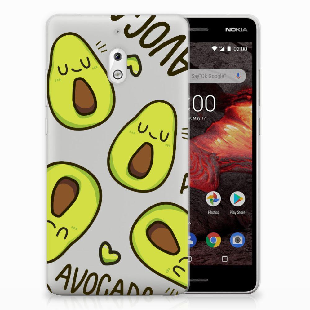 Nokia 2.1 (2018) Telefoonhoesje met Naam Avocado Singing