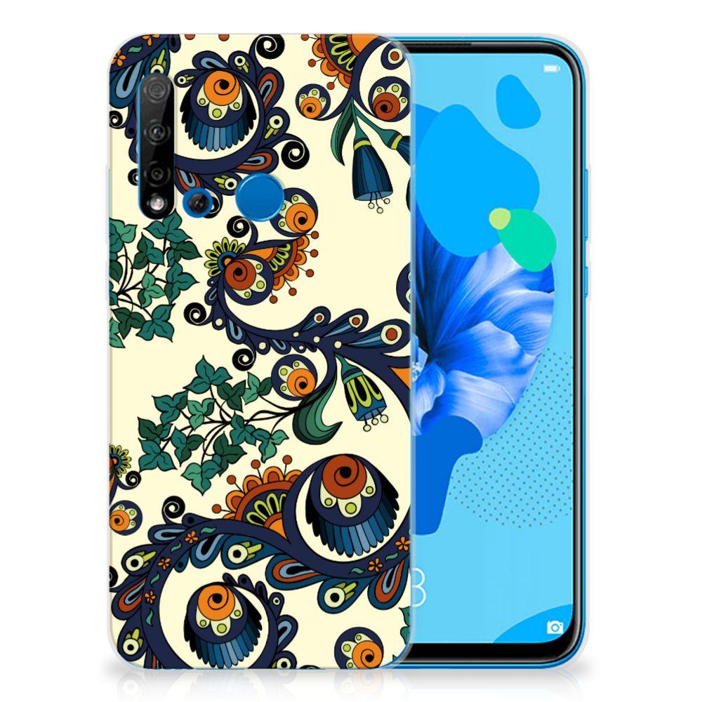 Siliconen Hoesje Huawei P20 Lite (2019) Barok Flower