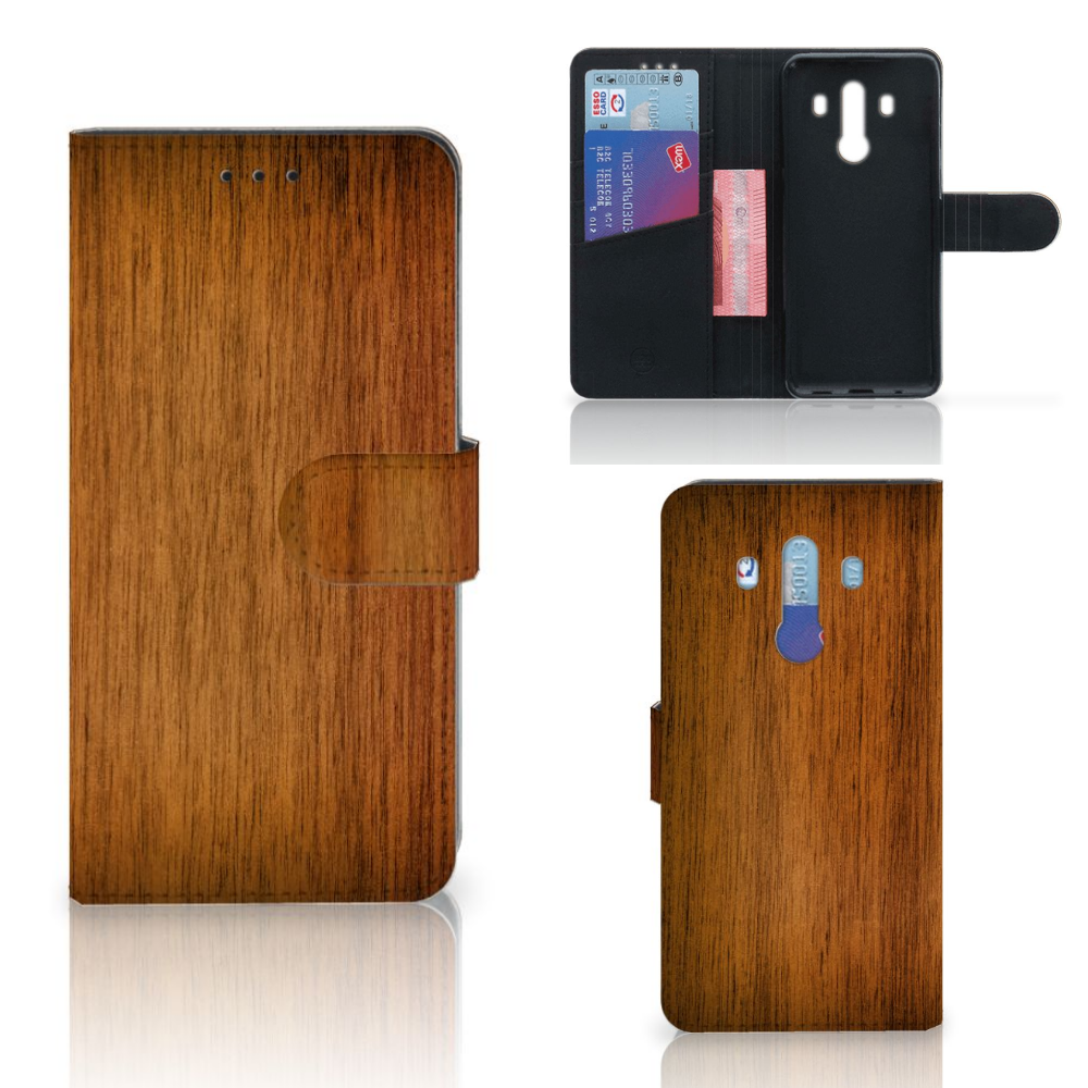 Huawei Mate 10 Pro Book Style Case Donker Hout