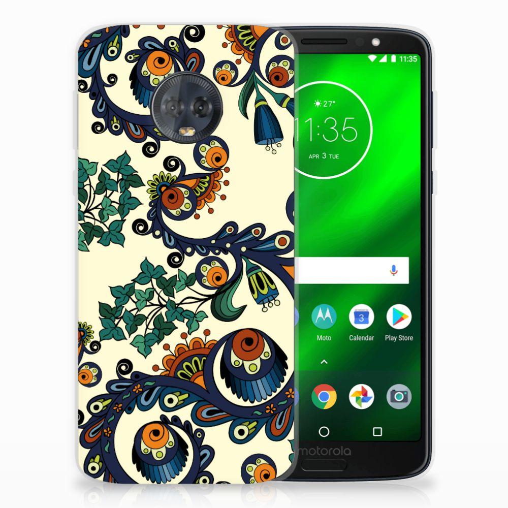 Siliconen Hoesje Motorola Moto G6 Plus Barok Flower