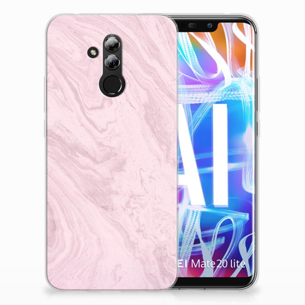 Huawei Mate 20 Lite TPU Hoesje Marble Pink
