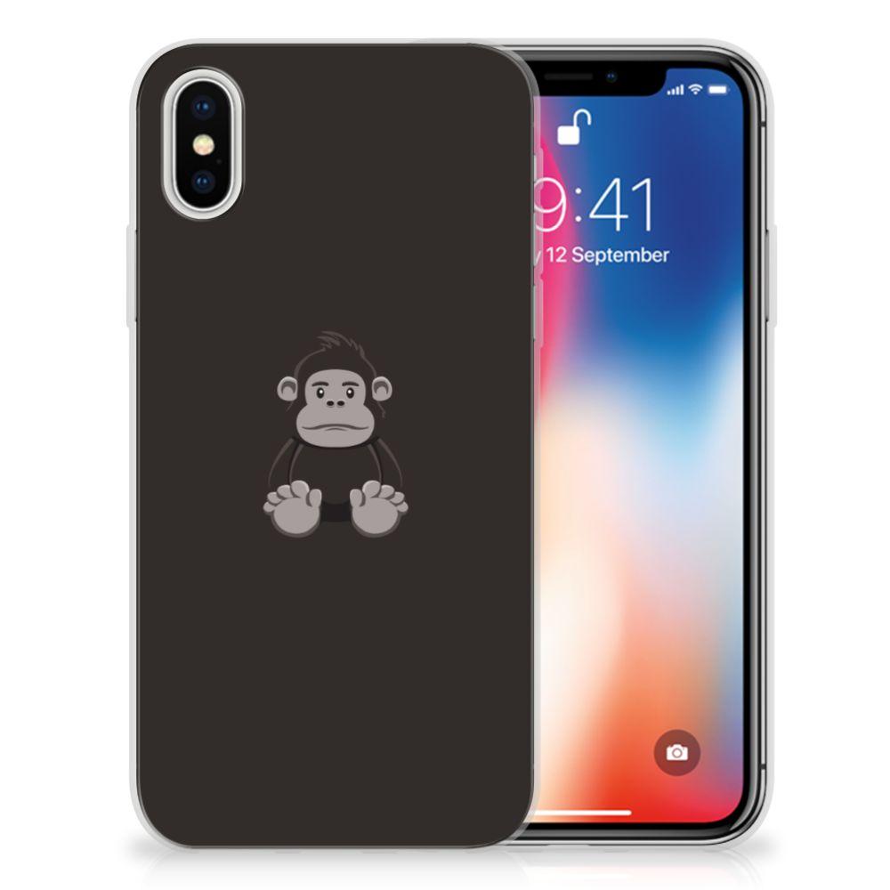 Apple iPhone X | Xs Telefoonhoesje met Naam Gorilla