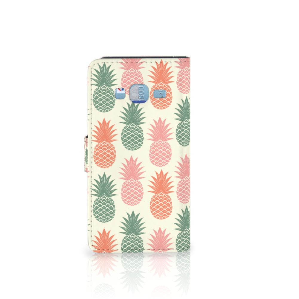 Samsung Galaxy J3 2016 Book Cover Ananas