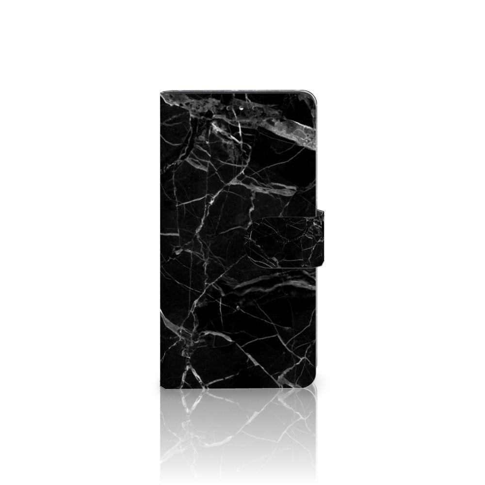 LG K10 (2017) Uniek Boekhoesje Marmer Zwart