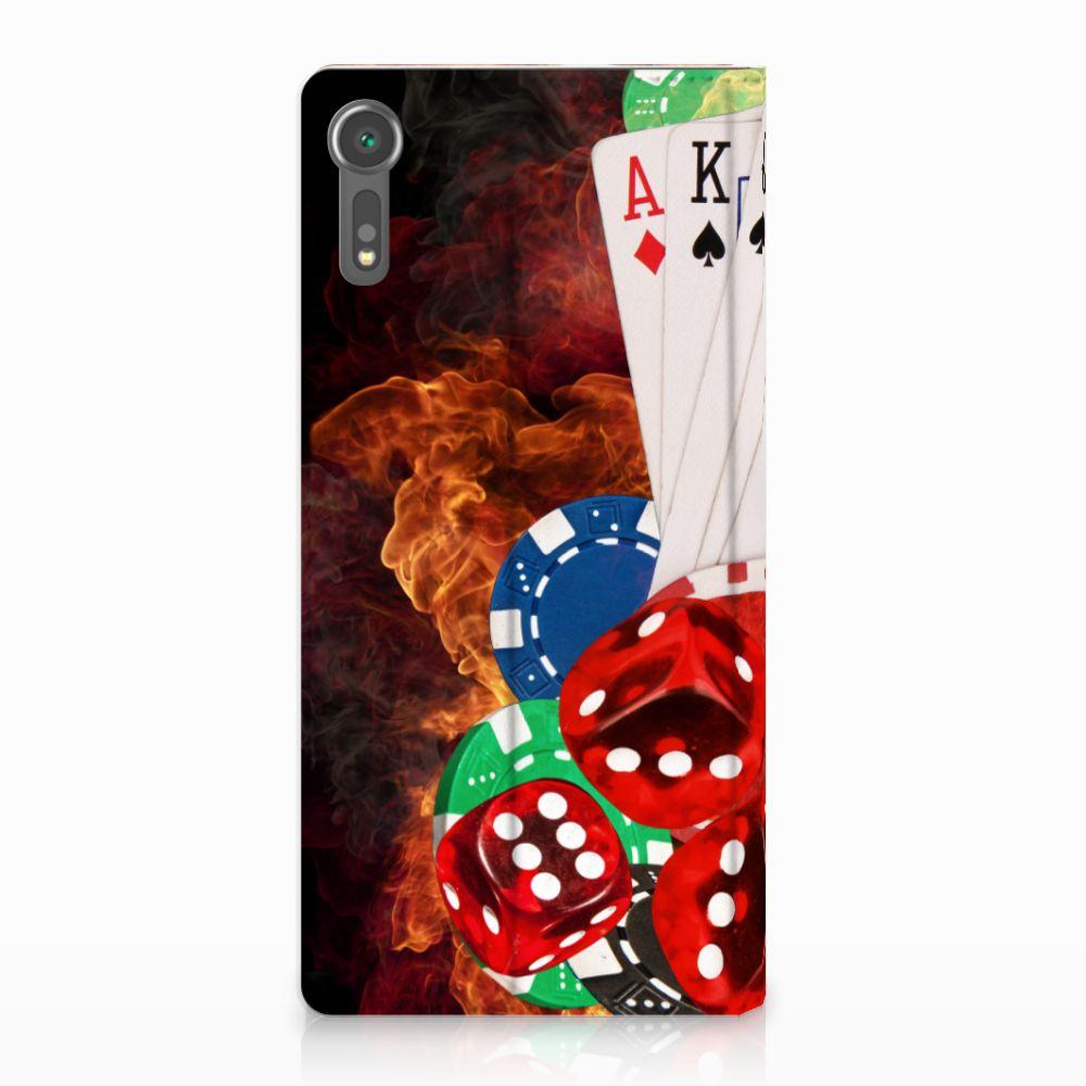 Sony Xperia XZ | XZs Uniek Standcase Hoesje Casino