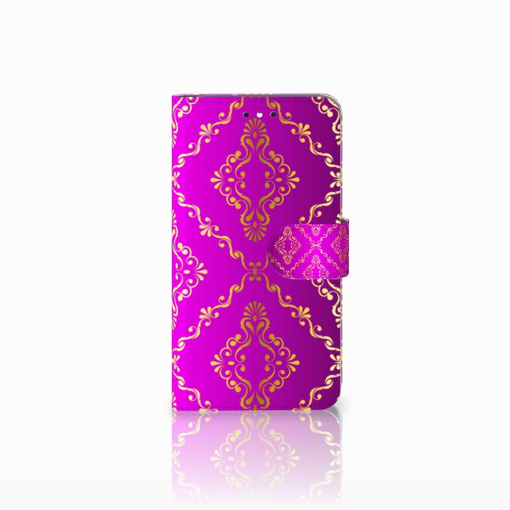Motorola Moto G4   G4 Plus Uniek Boekhoesje Barok Roze