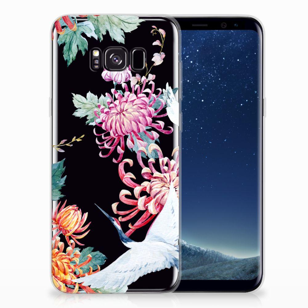 Samsung Galaxy S8 Plus TPU Hoesje Bird Flowers