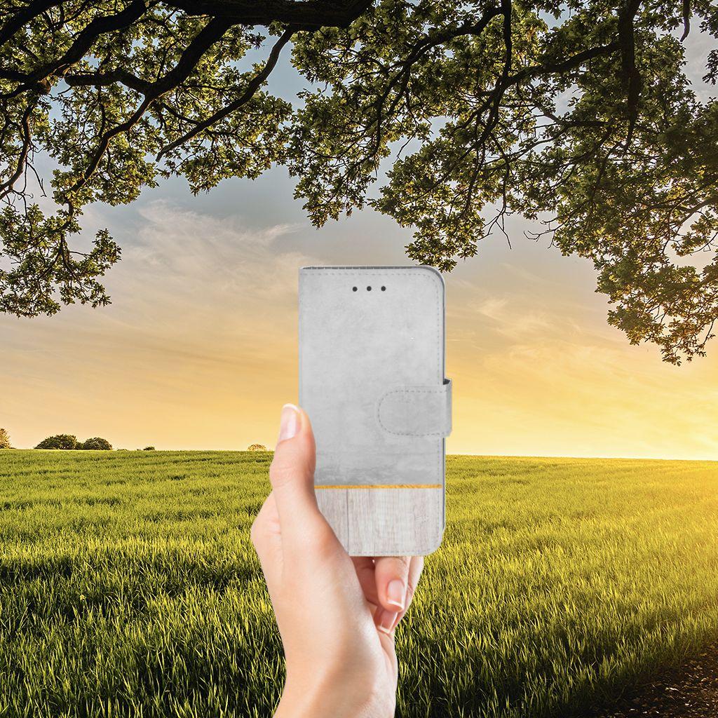 Samsung Galaxy J3 2016 Uniek Boekhoesje Wood Concrete