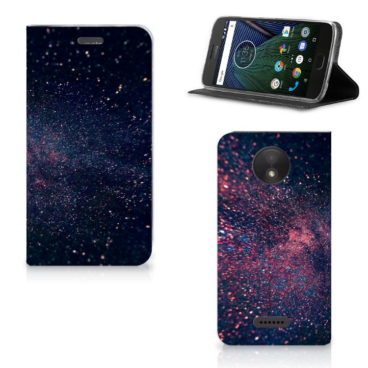 Motorola Moto C Plus Stand Case Stars