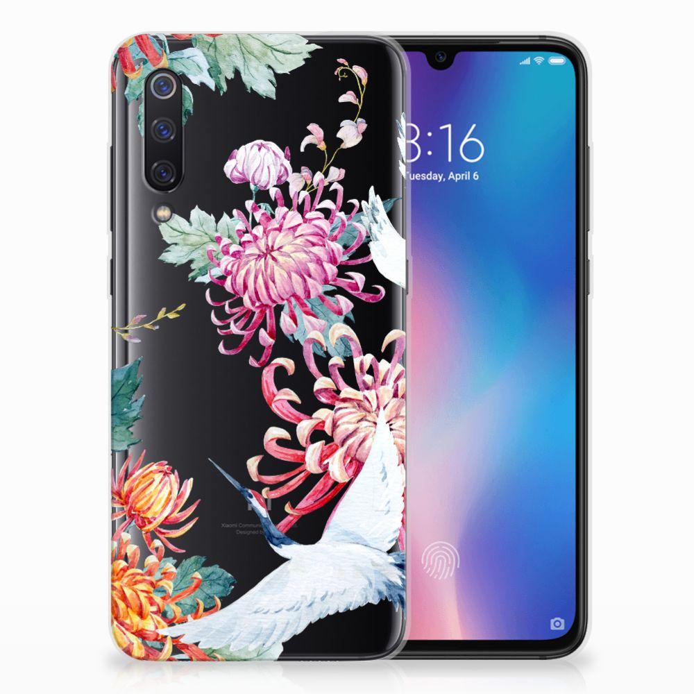 Xiaomi Mi 9 Leuk Hoesje Bird Flowers