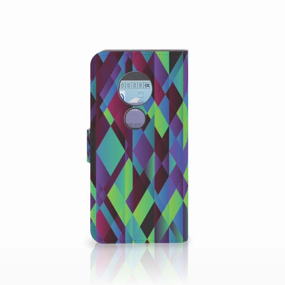 Motorola Moto G6 Play Bookcase Abstract Green Blue