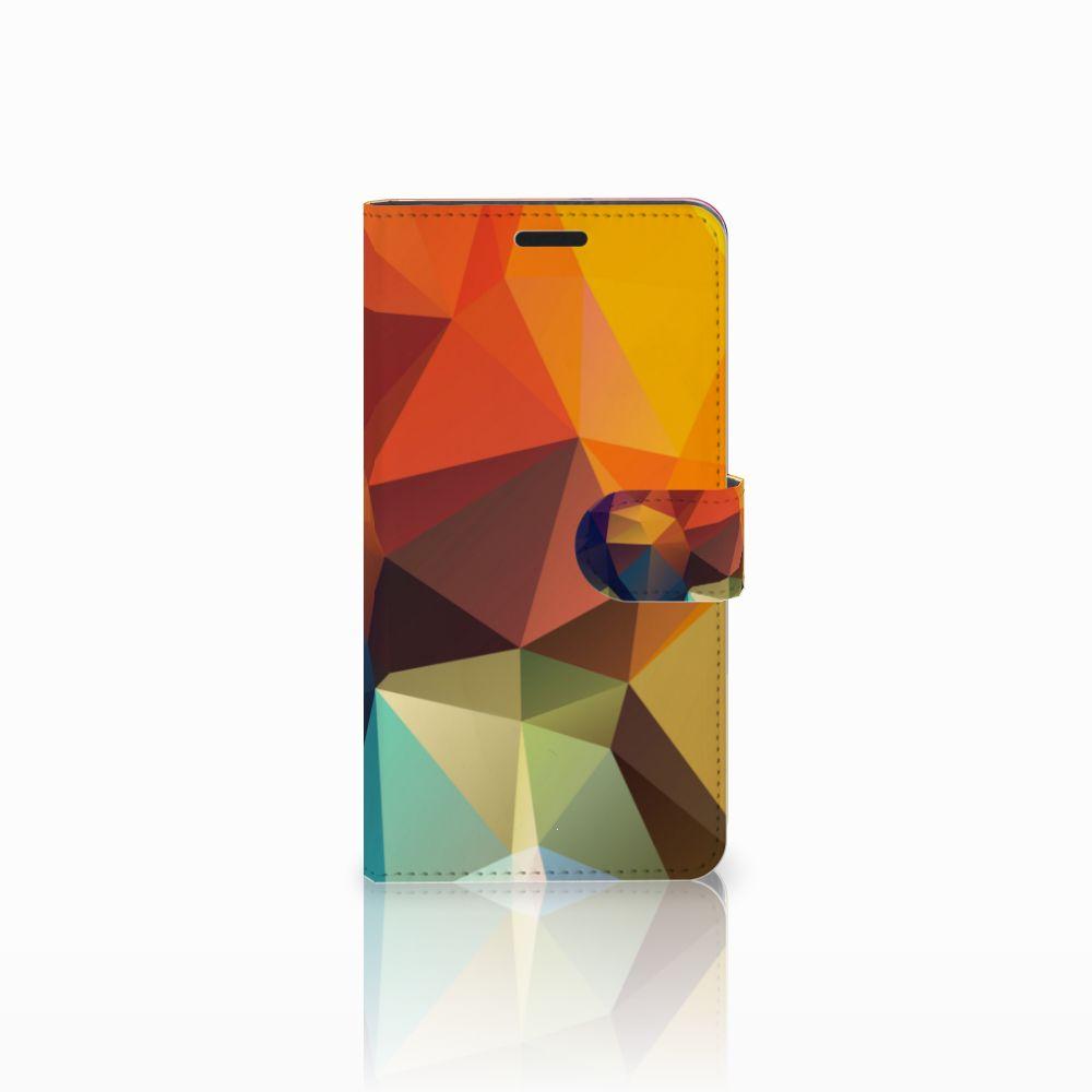 Sony Xperia T3 Boekhoesje Design Polygon Color