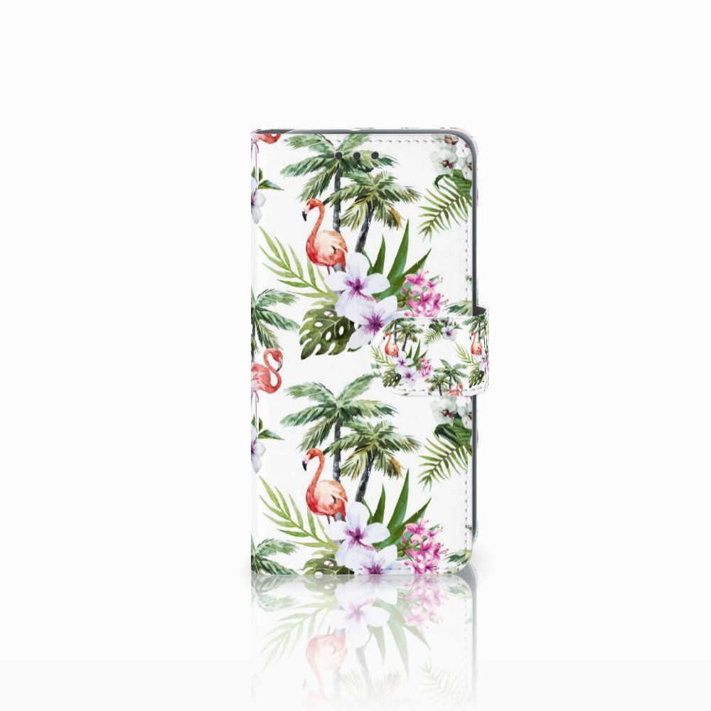 HTC U11 Life Boekhoesje Design Flamingo Palms