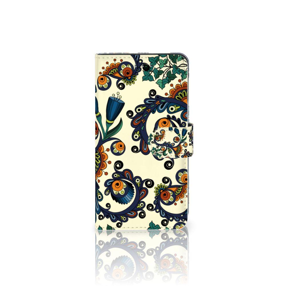 Samsung Galaxy J4 2018 Boekhoesje Design Barok Flower