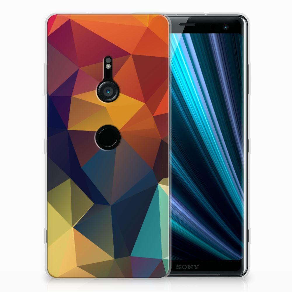 Sony Xperia XZ3 TPU Hoesje Design Polygon Color