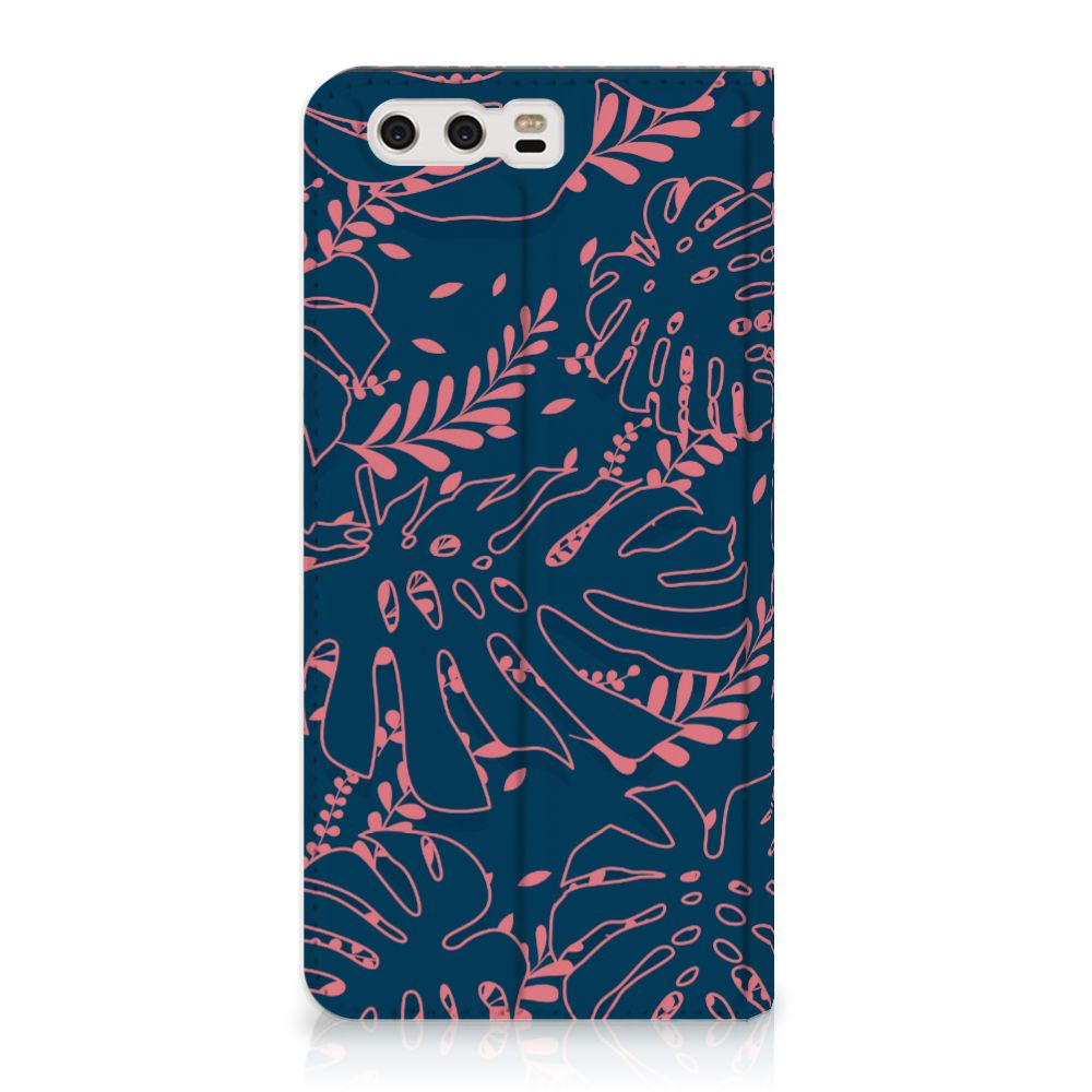 Huawei P10 Plus Standcase Hoesje Design Palm Leaves