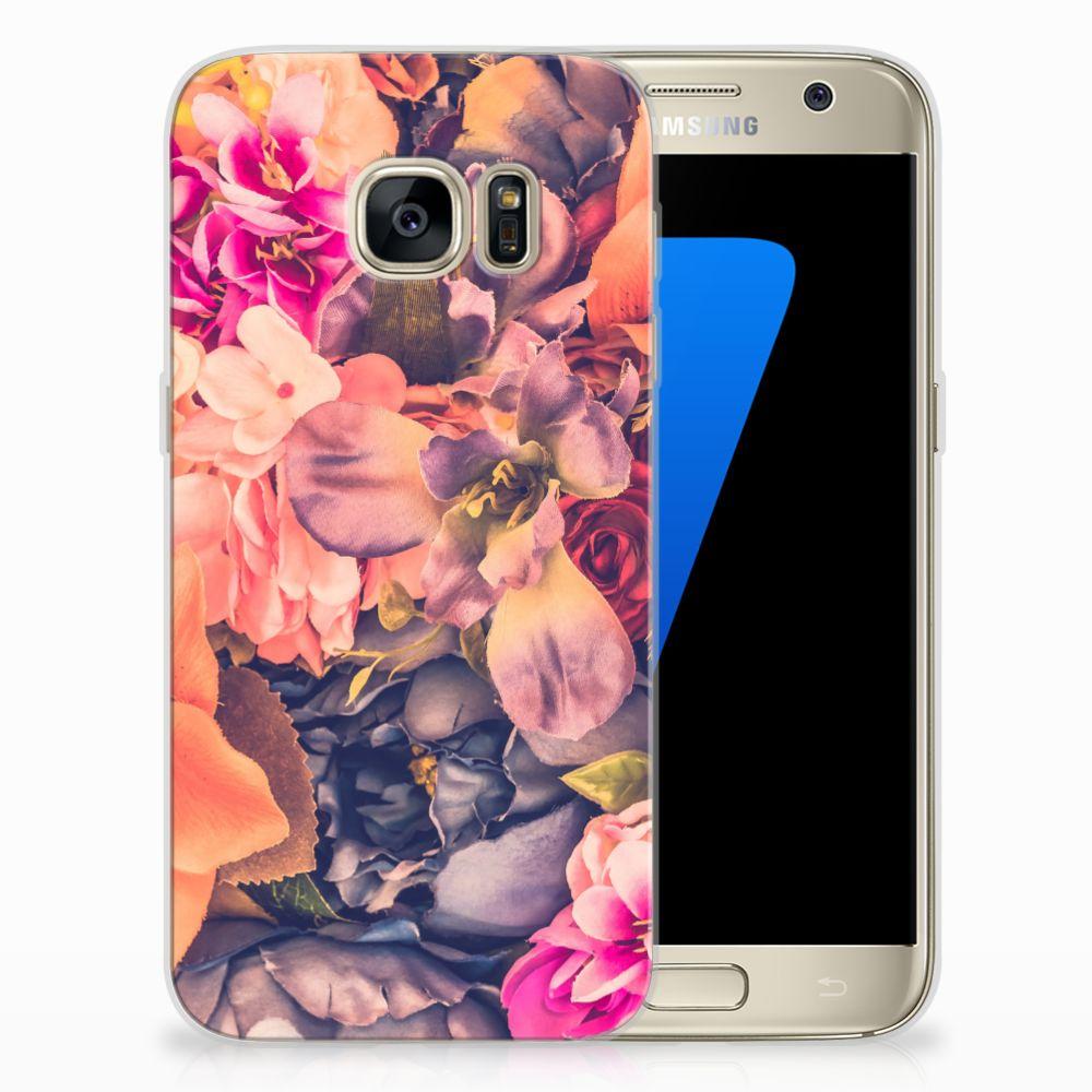 Samsung Galaxy S7 TPU Hoesje Design Bosje Bloemen