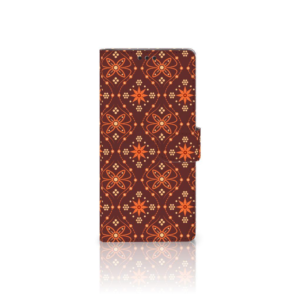 Sony Xperia XA Ultra Uniek Boekhoesje Batik Brown