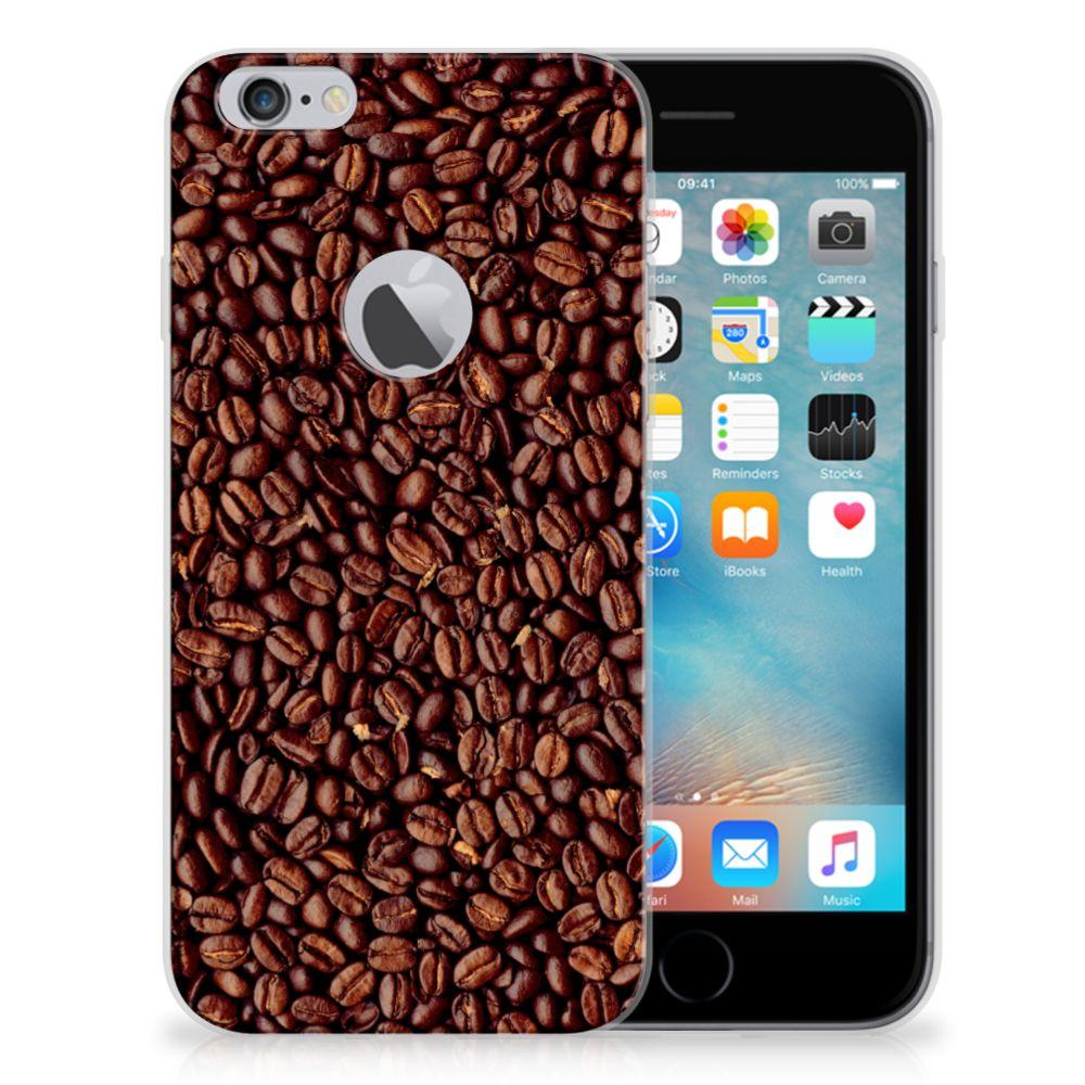 Apple iPhone 6 Plus   6s Plus Siliconen Case Koffiebonen