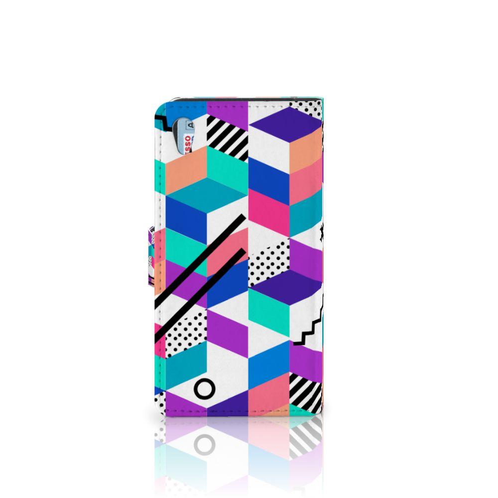 Sony Xperia Z2 Bookcase Blokken Kleurrijk