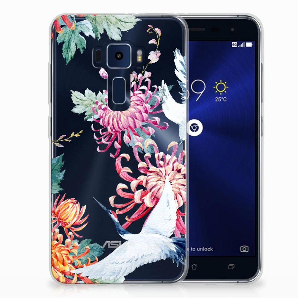 ASUS Zenfone 3 Uniek TPU Hoesje Bird Flowers