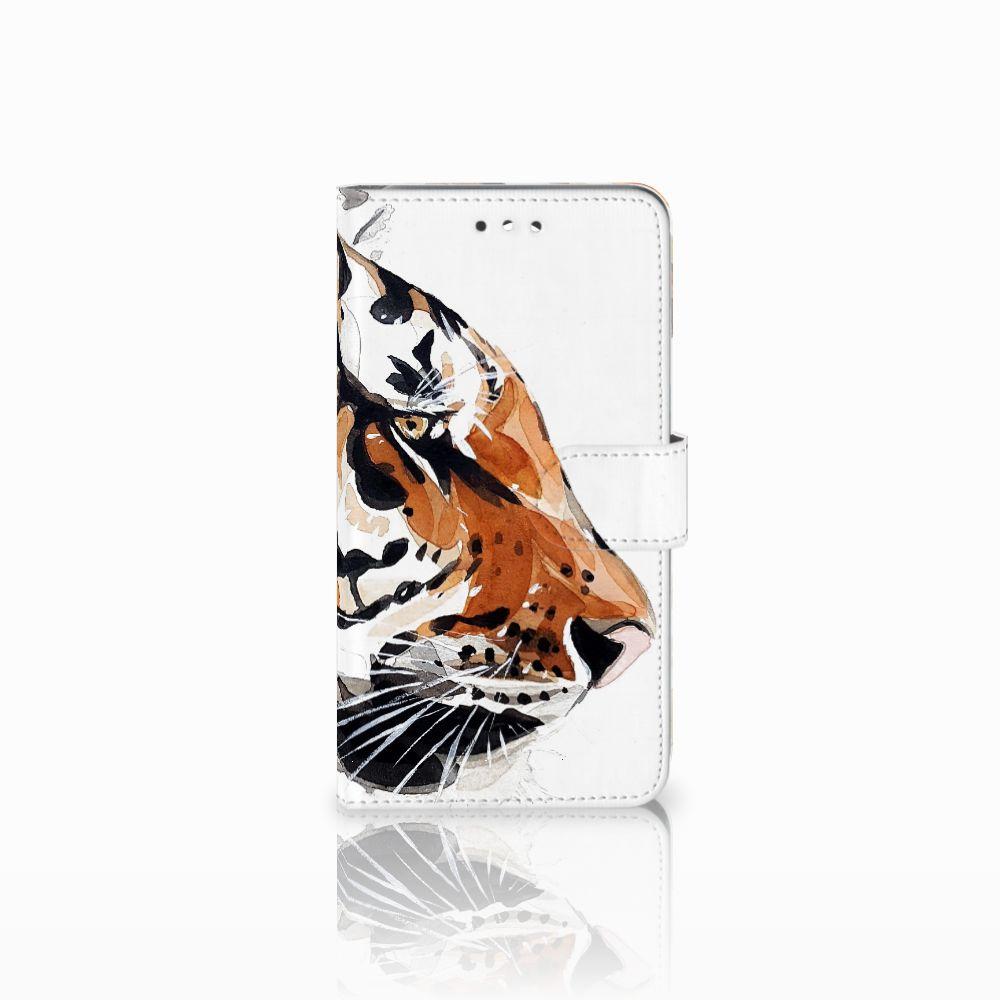 Huawei Y7 2017 | Y7 Prime 2017 Uniek Boekhoesje Watercolor Tiger