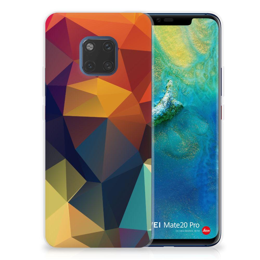 Huawei Mate 20 Pro TPU Hoesje Polygon Color