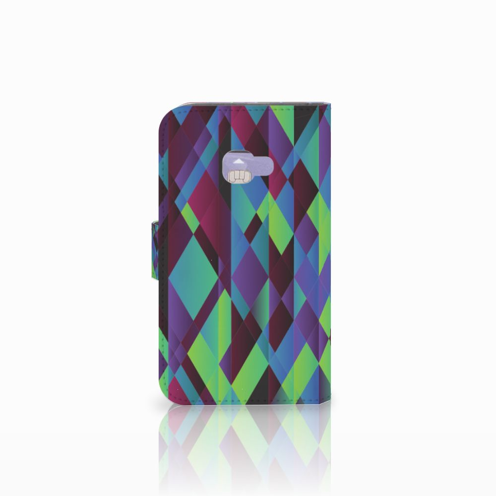 Samsung Galaxy Xcover 4   Xcover 4s Bookcase Abstract Green Blue
