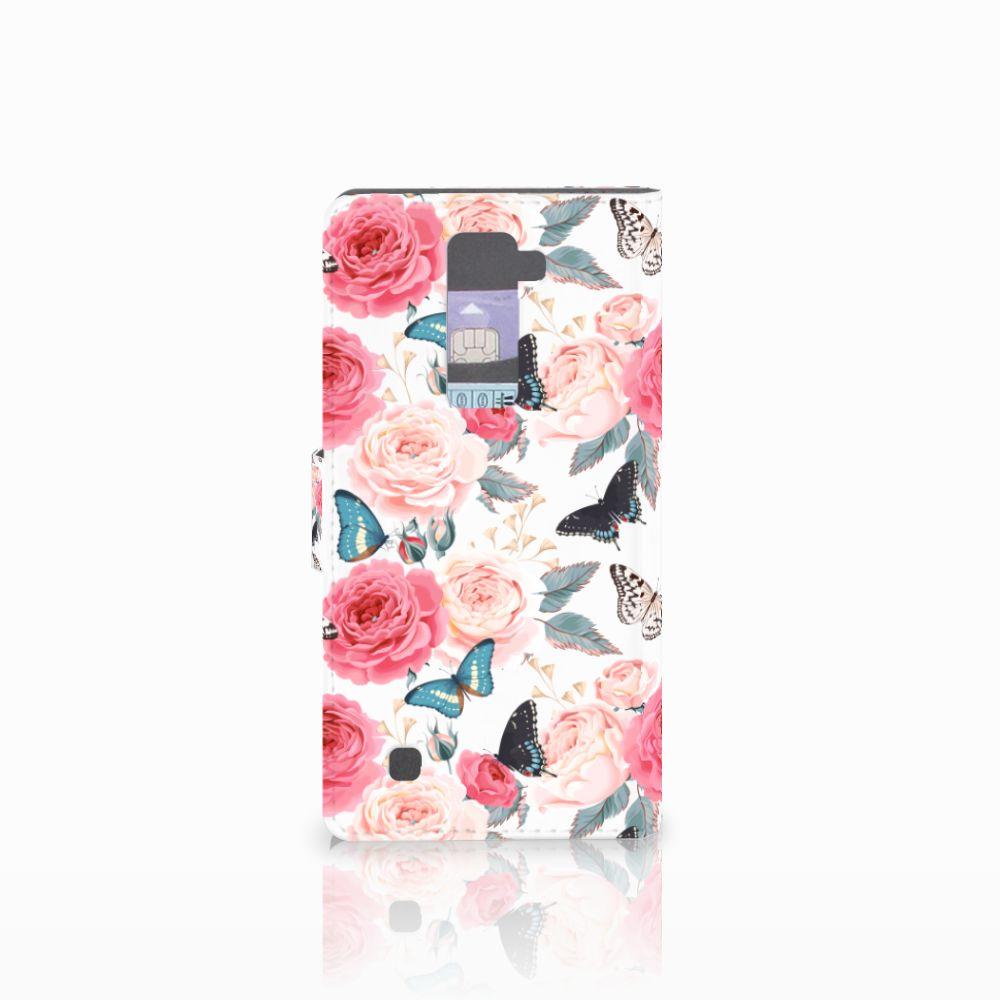 LG K10 2015 Hoesje Butterfly Roses