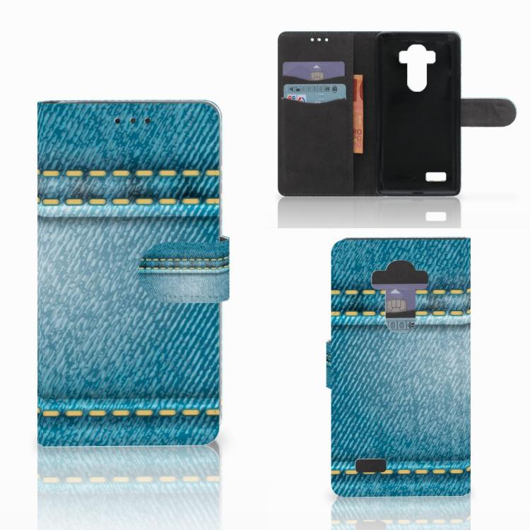 LG G4 Wallet Case met Pasjes Jeans