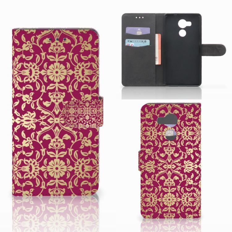 Wallet Case Huawei Mate 8 Barok Pink