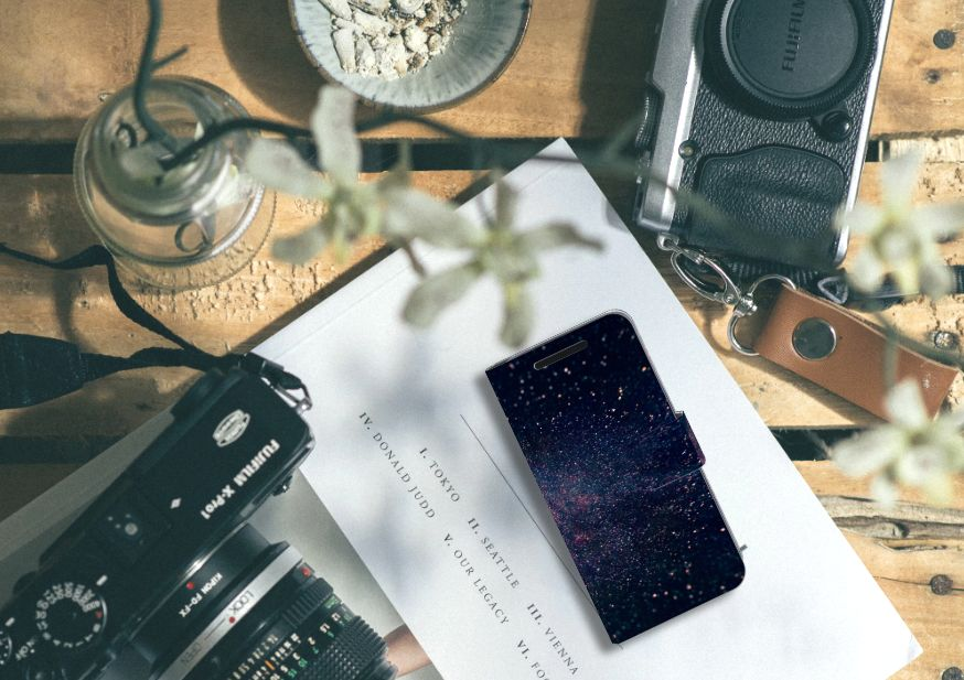 HTC One M9 Bookcase Stars