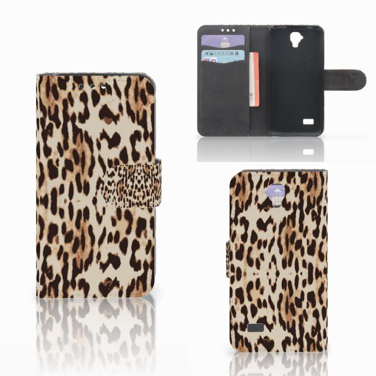 Huawei Y5 Y560 Telefoonhoesje met Pasjes Leopard