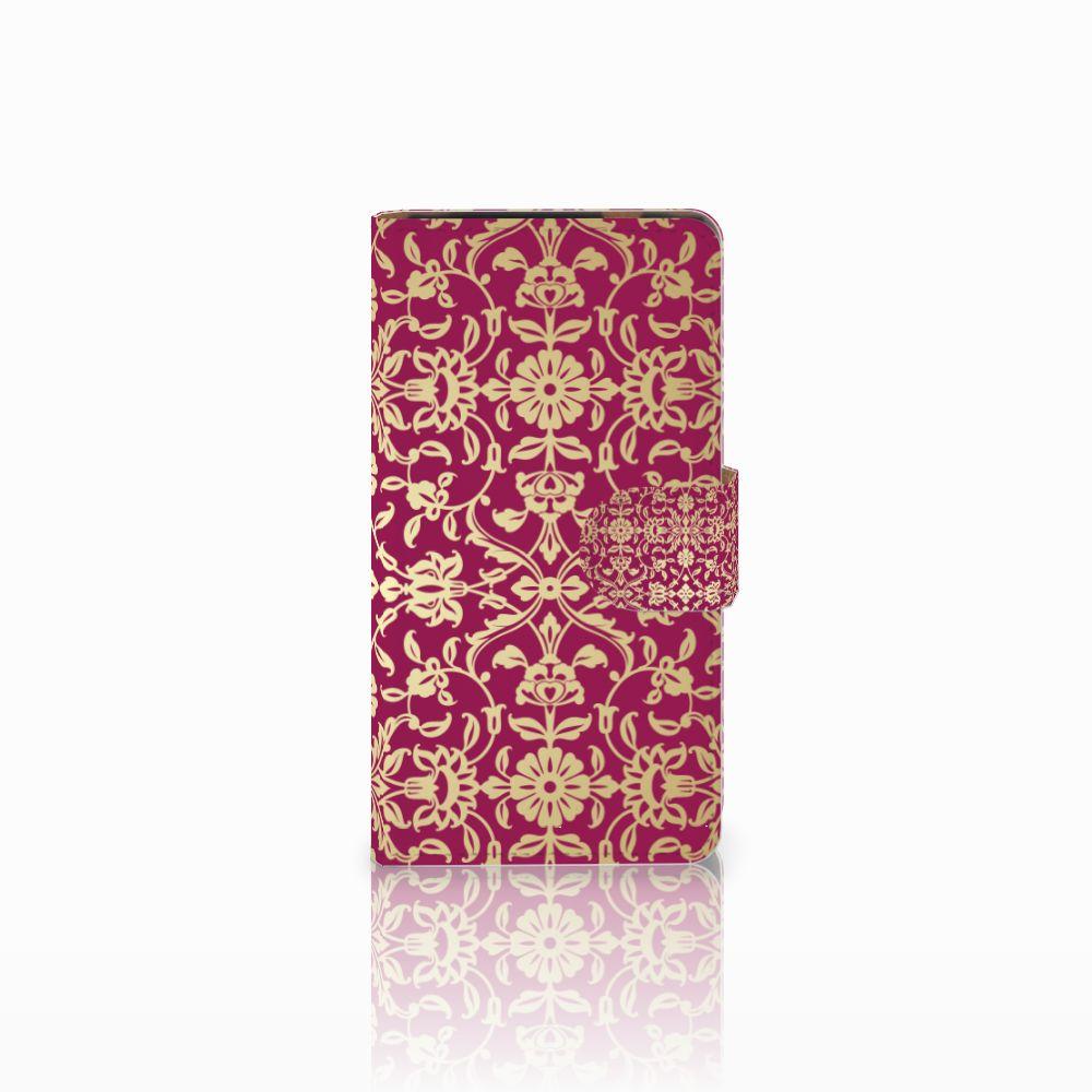 HTC Desire 601 Boekhoesje Design Barok Pink