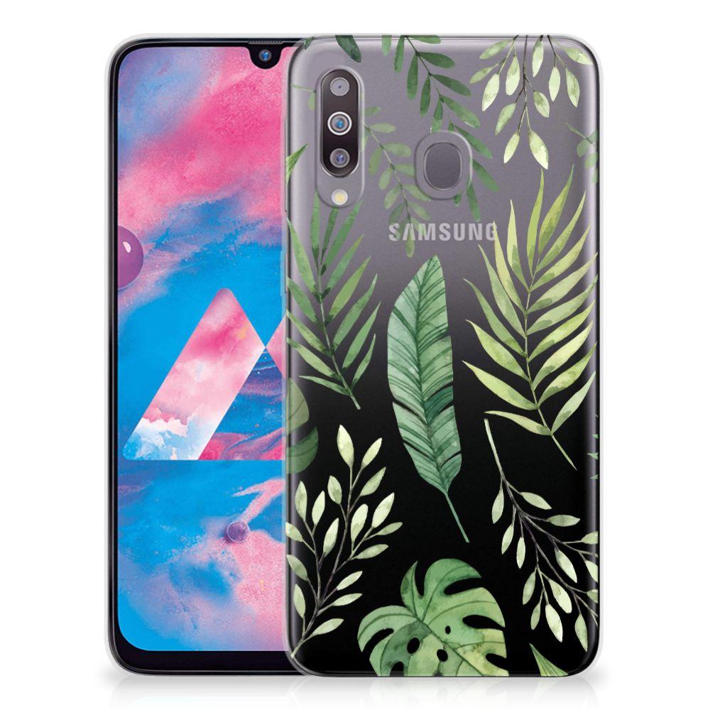 Samsung Galaxy M30 TPU Case Leaves
