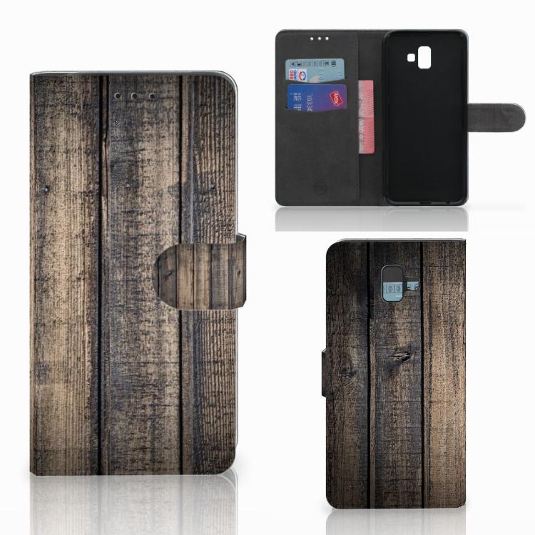 Samsung Galaxy J6 Plus (2018) Book Style Case Steigerhout