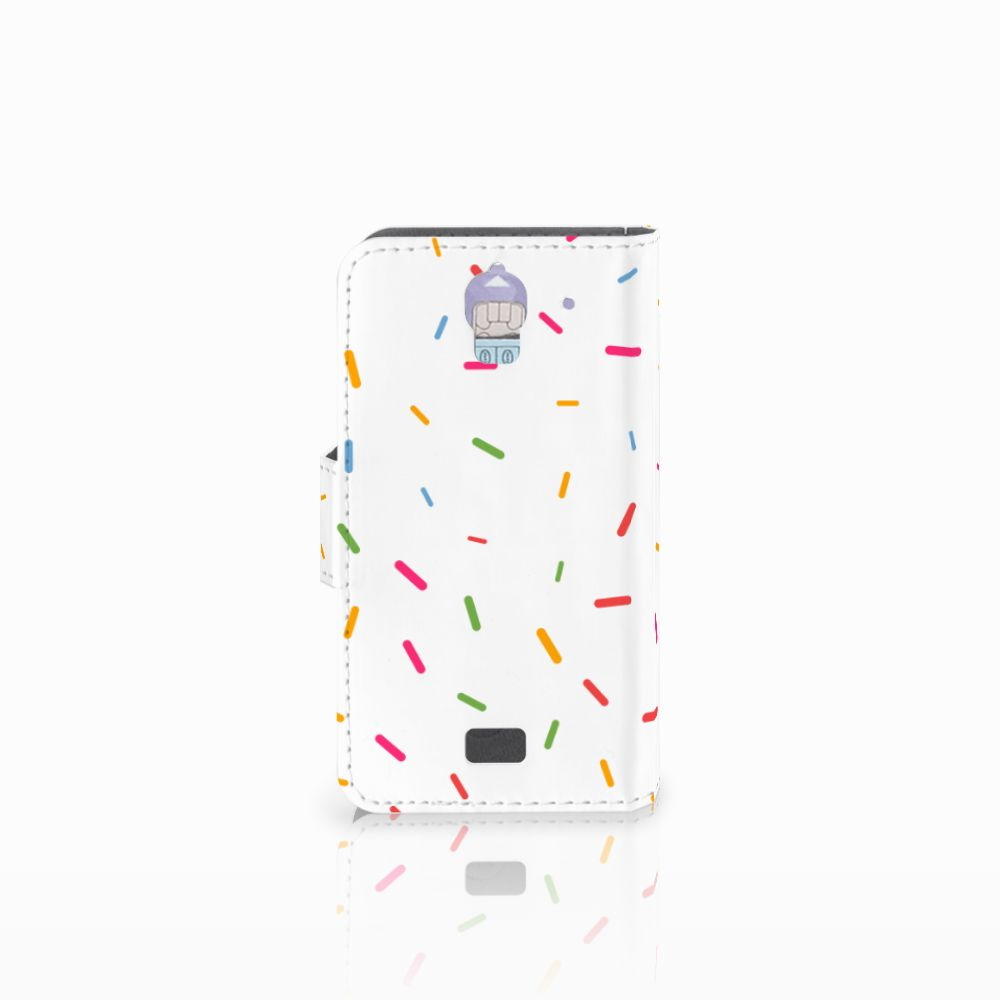 Huawei Y360 Book Cover Donut Roze