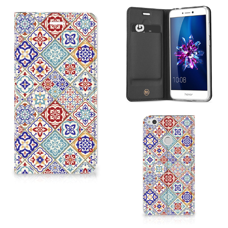 Huawei P8 Lite 2017 Standcase Tiles Color