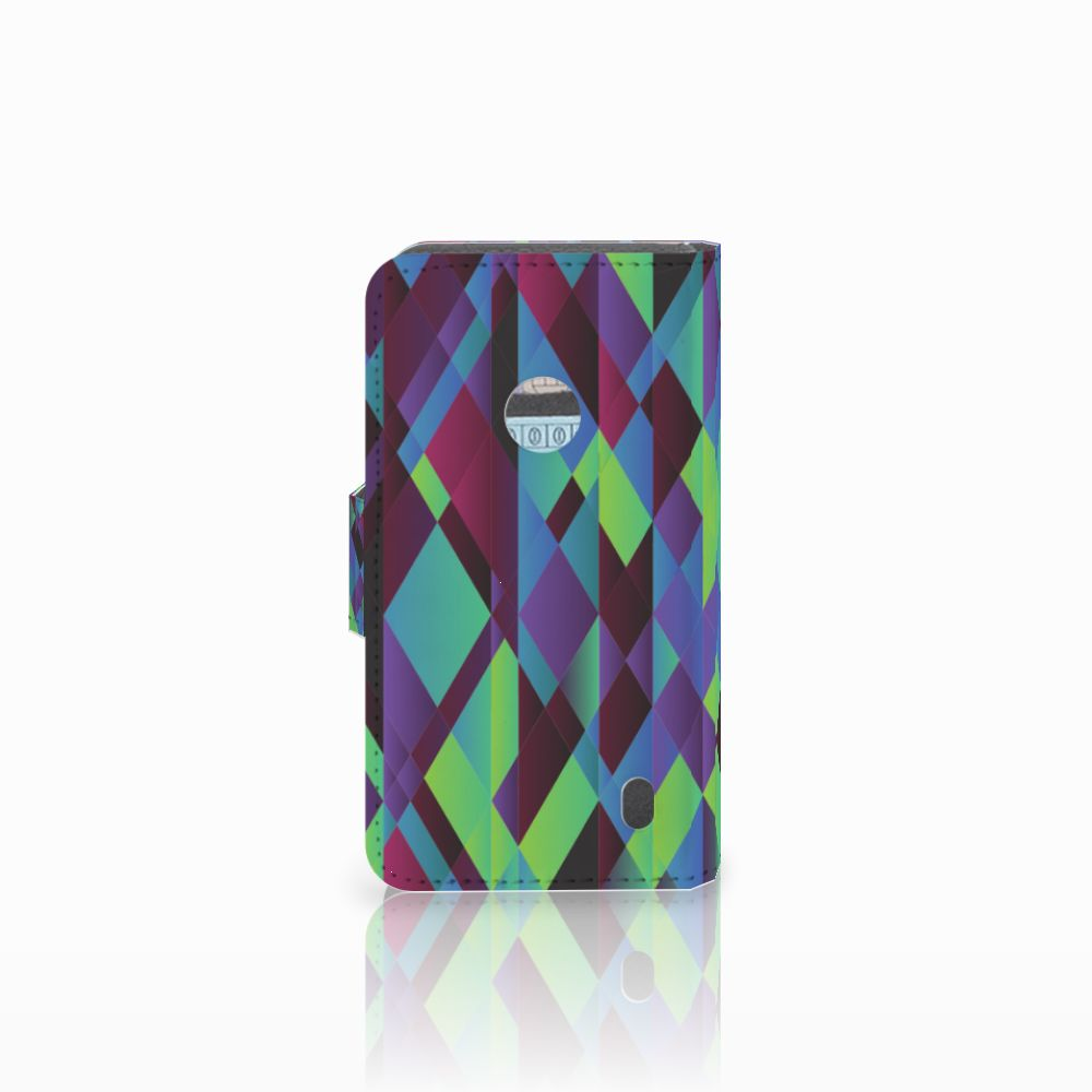 Nokia Lumia 520 Bookcase Abstract Green Blue