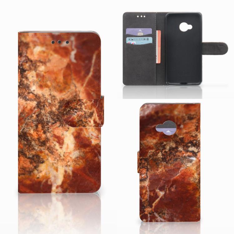 HTC U Play Bookcase Marmer Bruin