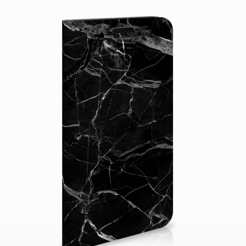 Samsung Galaxy J6 (2018) Uniek Standcase Hoesje Marmer Zwart