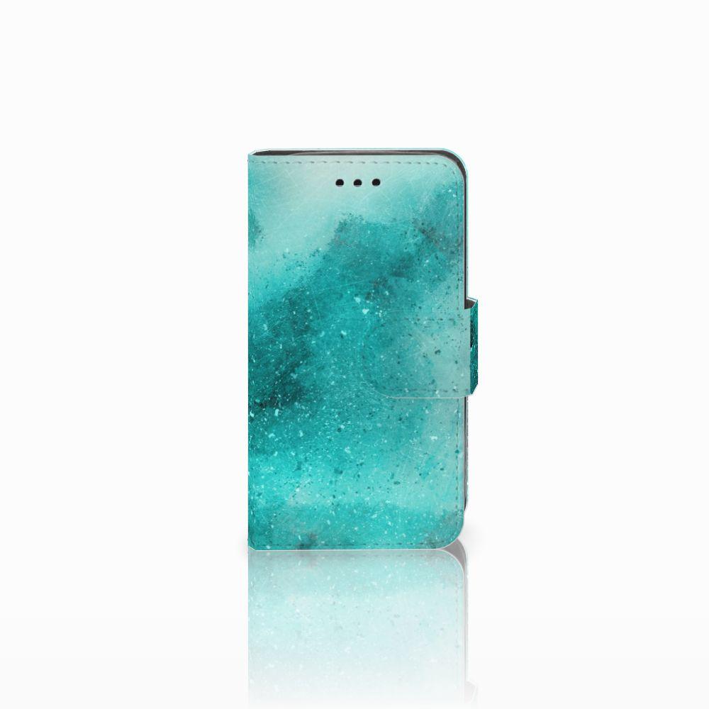 Samsung Galaxy Trend 2 Uniek Boekhoesje Painting Blue