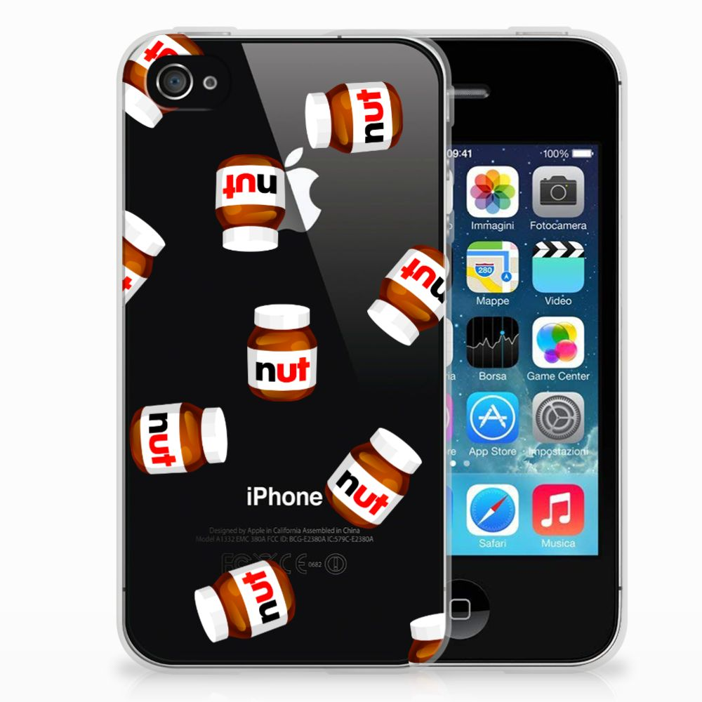 Apple iPhone 4 | 4s Siliconen Case Nut Jar