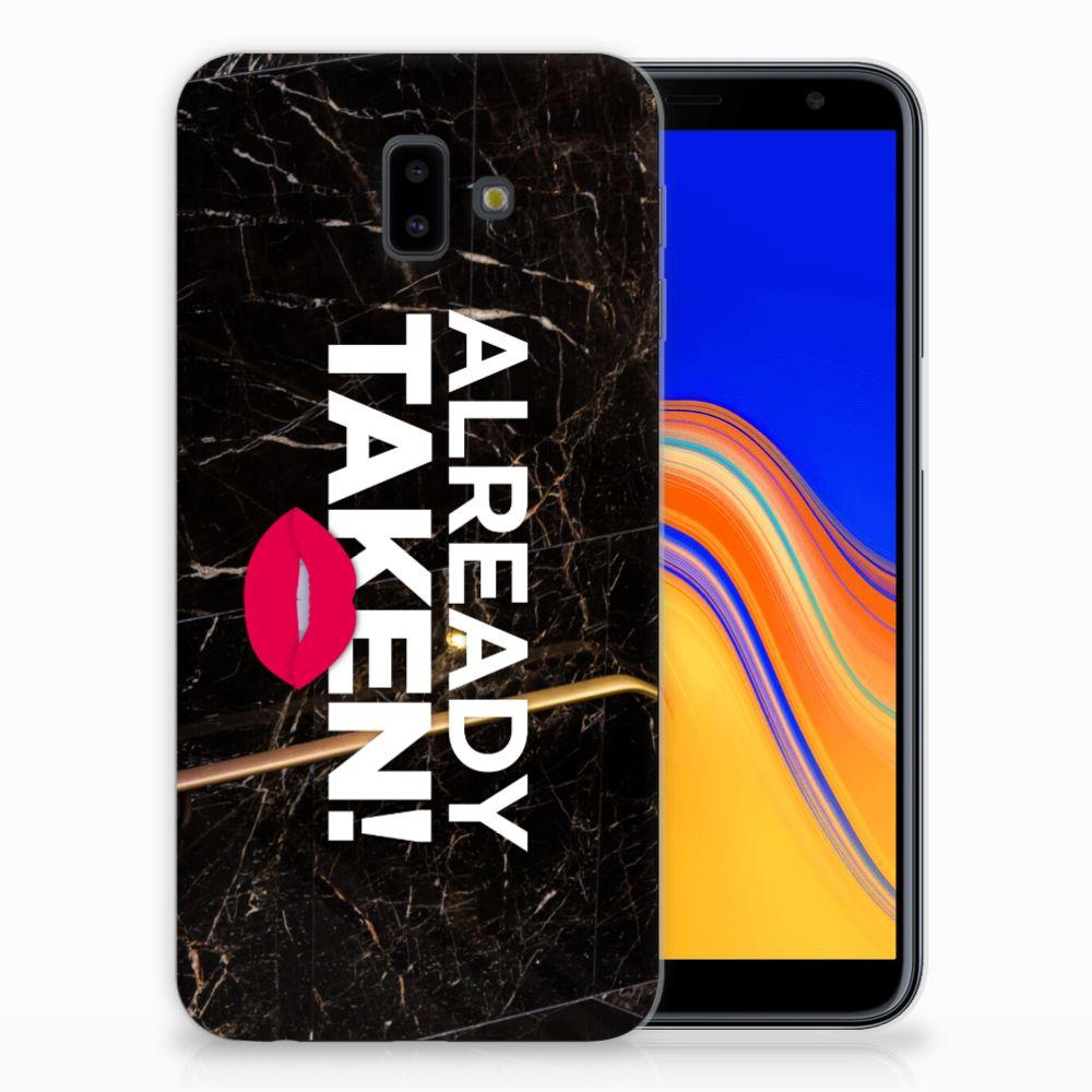 Samsung Galaxy J6 Plus (2018) TPU Hoesje Design Already Taken Black
