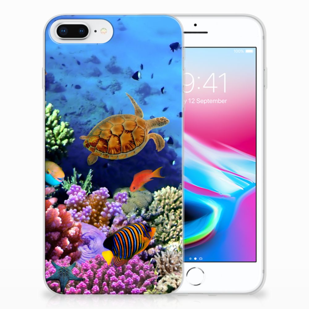 Apple iPhone 7 Plus | 8 Plus TPU Hoesje Design Vissen