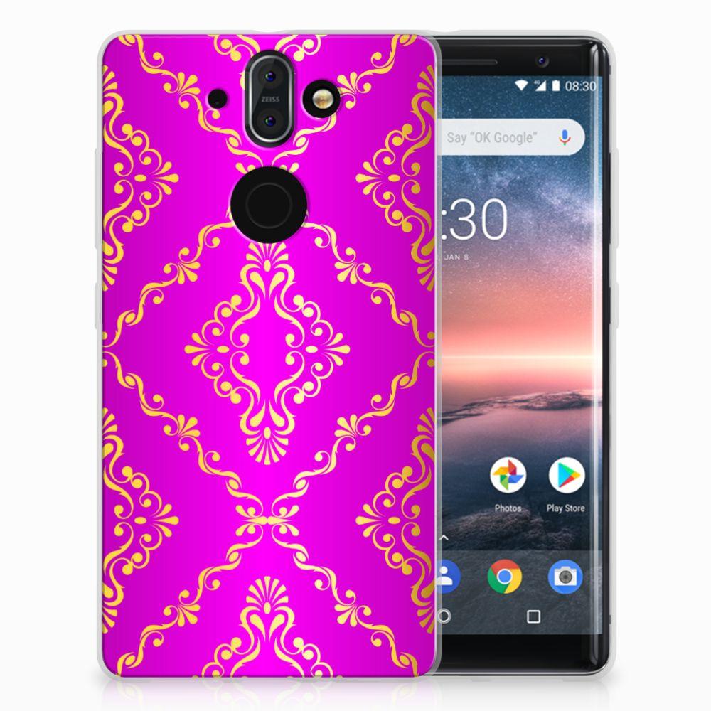Nokia 9 | 8 Sirocco Uniek TPU Hoesje Barok Roze