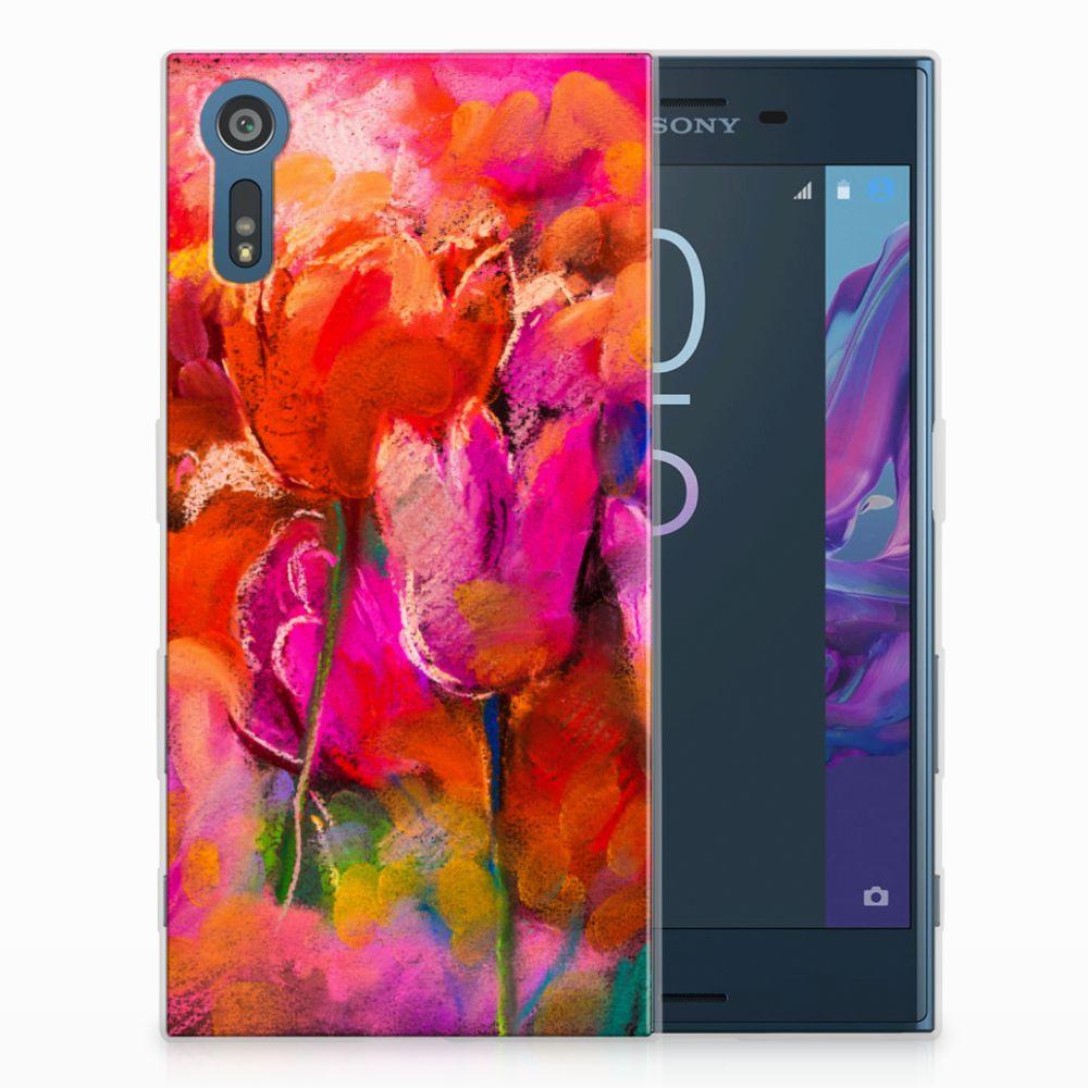 Sony Xperia XZs | XZ TPU Hoesje Design Tulips