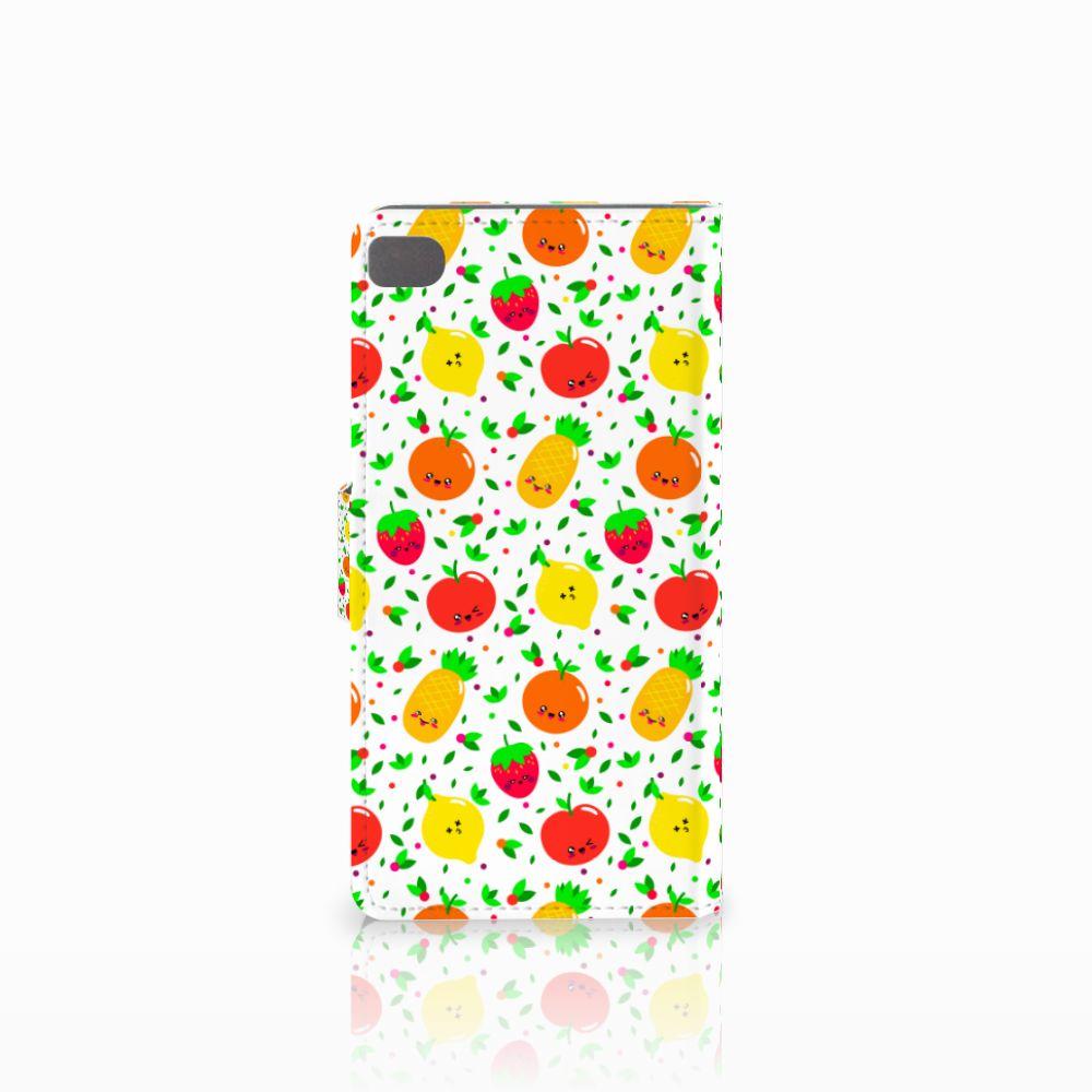 Huawei P8 Book Cover Fruits
