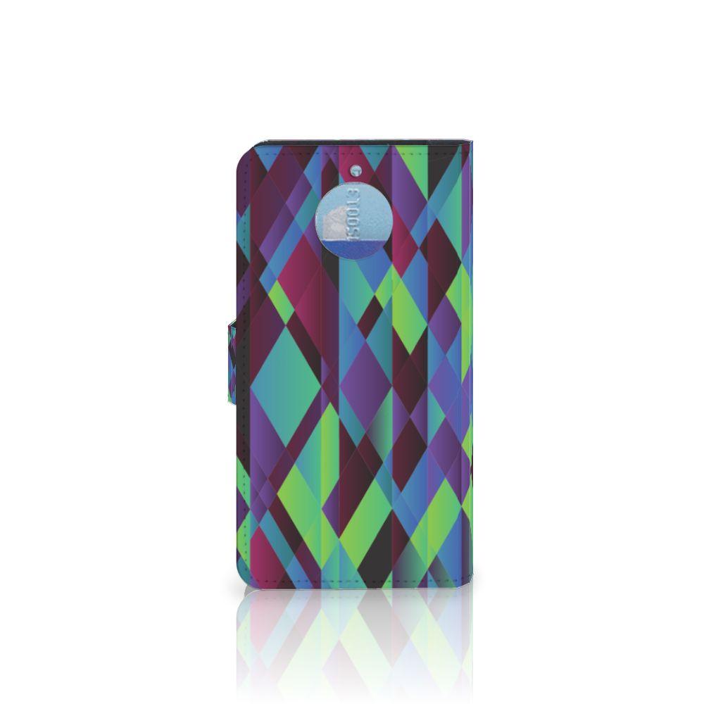 Motorola Moto G5S Plus Bookcase Abstract Green Blue