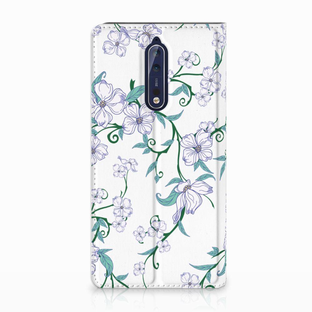 Nokia 8 Uniek Standcase Hoesje Blossom White